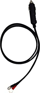 Male cigarette lighter adaptor with power supply cable 14 AWG 15A 20A built in fuses with 6.3mm ring terminal, cable length 1M (3.3 Ft) (1Meter(3.3Ft))