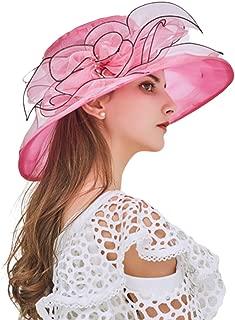 Women Kentucky Derby Church Cap Wide Brim Summer Sun Hat for Party Wedding