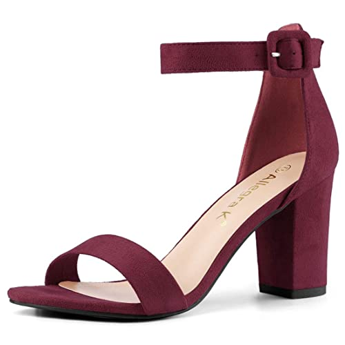 d102f84096ef Allegra K Women s High Chunky Heel Buckle Ankle Strap Sandals
