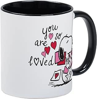 CafePress Snoopy You Are So Loved Mug Unique Coffee Mug, Coffee Cup