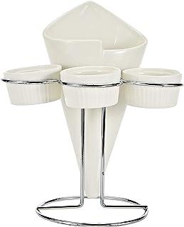 Symphony Plates and Dishes Holder, White, Melamine
