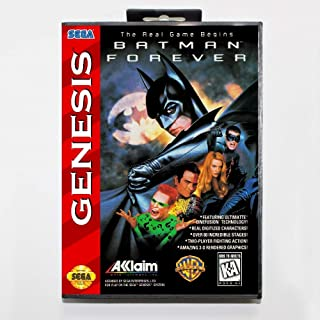 New 16 Bit Md Game Card - Batman Forever With Retail Box For Sega Genesis System EUR Shell