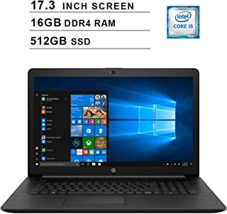 2020 Nuevo HP Pavilion 17.3 pulgadas Laptop (Intel Quad-Core i5-8265U hasta 3.9 GHz, 16GB DDR4 RAM, 512GB SSD, Intel UHD 6...