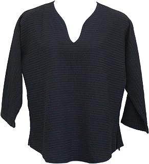 Ezze Wear Women`s Black Mirage Cotton Athena Tunic Top