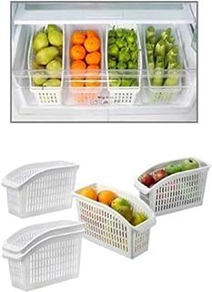 FEGSX 5 pièces récipient en Plastique Creux boîte de Rangement réglable Cuisine réfrigérateur Organisateur tiroir économis...