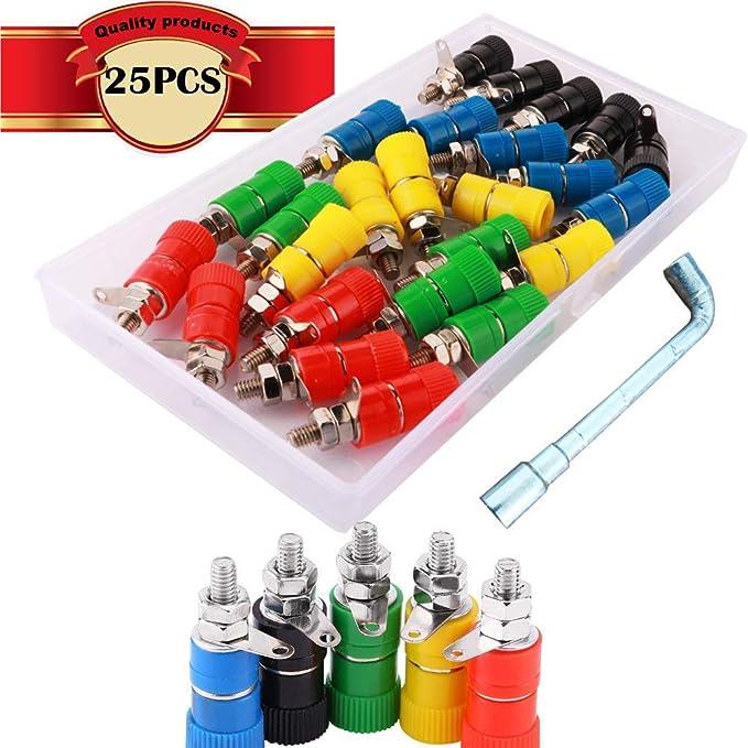 Cesfonjer 25 Pcs Binding Post Buchse Elektronik