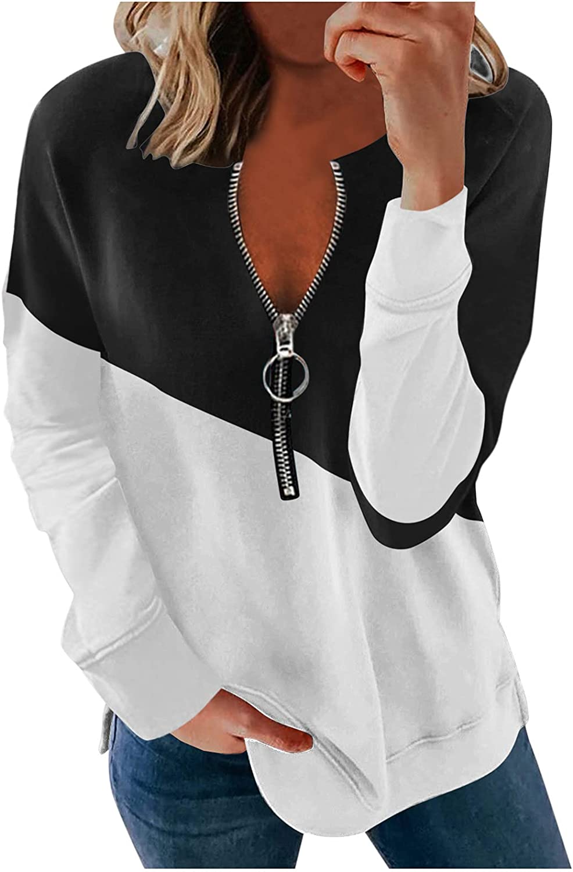 FABIURT Sweatshirts for Women,Pullover Tees for Women Casual Loose Long Sleeve Shirts Sweaters Cute Graphic Sweatshirts