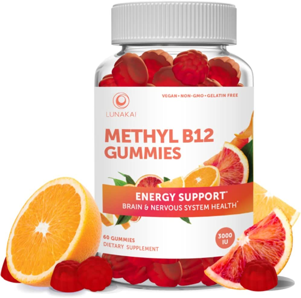 Methyl B12 3000 mcg Gummies for Adults - Organic Non-GMO Cheap sale 2021 autumn and winter new Gummy V