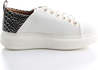 ALEXANDER SMITH Luxury Fashion Womens E71011WHITESILVER White Sneakers | Fall Winter 19