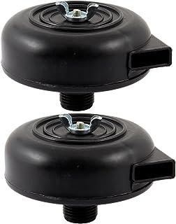 Sourcingmap A13121600UX1030 Compresor de Aire Filtro silenciador, Negro, 20 mm Set de 2 Piezas