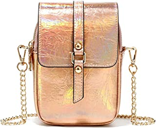 Fanspack Shoulder Bag Reflective Satchel Bag Zipper Crossbody Pouch Purse Messenger Bag