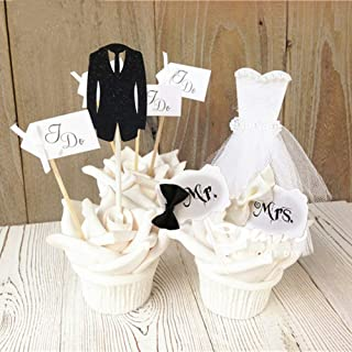 Best cupcake bride and groom topper Reviews