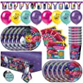 Trolls Birthday Party Supplies & Decorations, Trolls Party Supplies - Serves 16 Guests - Featuring Poppy, Queen Barb & Branch from World Tour Movie, With Table Cover, Happy Birthday Banner Decor, Balloons, Plates & More by Unique