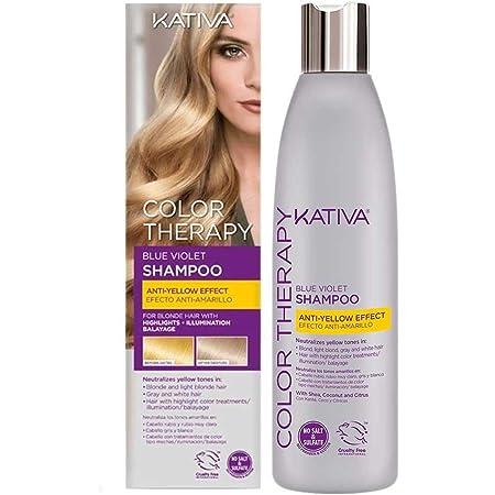 Kativa Color Therapy Champú Matizador Violeta Azul para ...