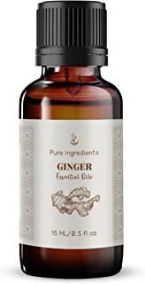 Ginger Essential Oil (15 ml) Convenient Dropper Cap Bottle, Nausea, Warm, Spicy Aroma*