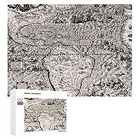 INOV 1562年 大西洋 世界地図ディエゴ トリプティカ ジグソーパズル 木製パズル 500ピース キッズ 学習 認知 玩具 大人 ブレインティー 知育 puzzle (38 x 52 cm)