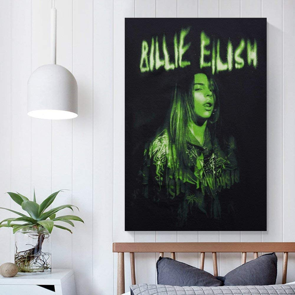 WUSOP P/óster de Billie Eilish impresi/ón art/ística de pared impresi/ón moderna para habitaci/ón familiar p/óster de 20 x 30 cm