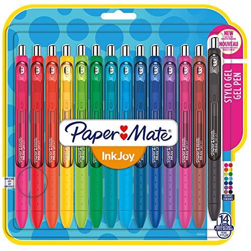 Paper Mate Inkjoy Penna Gel, Punta Media, Colori Assortiti, Confezione da 14