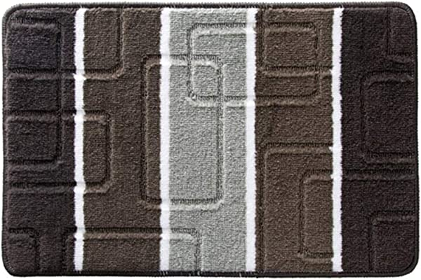 Bath Mat Kids Bath Rugs Bath Mat Rug Bathroom Bedroom Bedside Carpet Door Mat Entering The Door Foot Pad Hand Wash Home Non Slip Mat Water Absorption WEIYV Color Gray Size 4060cm