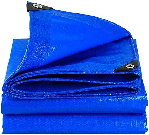DJSMpb Baches Tissu Anti-Pluie extérieur de PE d'abri de Soleil d'extérieur de DinRoll, bache imperméable extérieure Bleue de Prougeection Solaire (Taille   4mx5m)