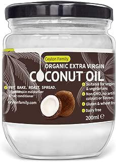 Organic Extra Virgin Coconut Oil 200ml