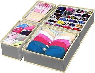 Punvot Förvaringslådor för underkläder, lådor organisatör underkläder sorteringssystem, lådor organiseringssystem vikbar b...