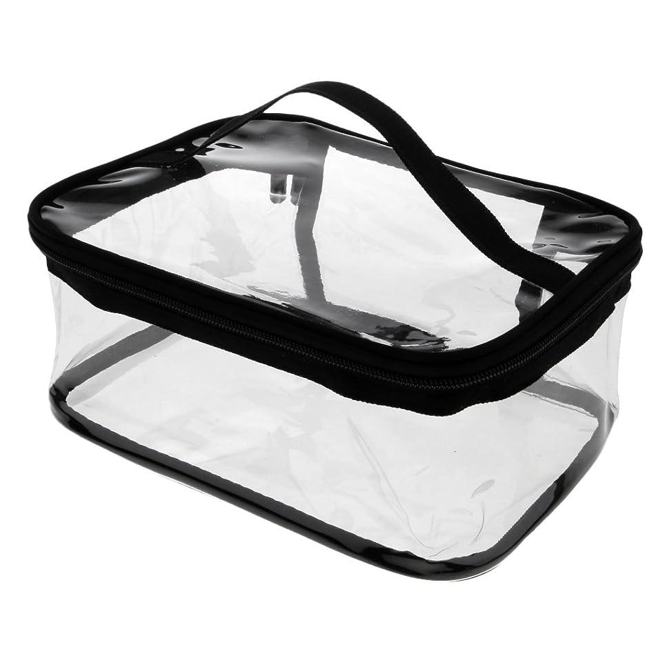 起きる池ランチKesoto メイクバッグ 化粧ポーチ PVC クリア コスメ収納 化粧品 小物入り バッグ ポーチ ジッパーバッグ 全4タイプ - #3
