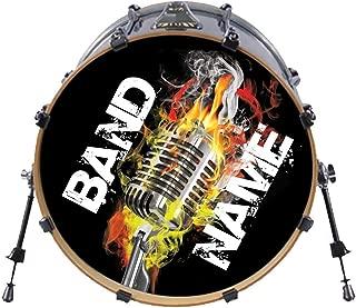 bass drum logo stickers