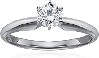 IGI Certified 14k White Gold Lab Created Diamond Solitaire Engagement Ring (1/2carat, G-H Color, VS1 - VS2 Clarity), Size 7