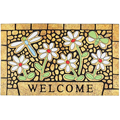 CHICHIC Door Mat Welcome Mat Front Door Mat Outdoor for Home Entrance Outdoor Mat for Outside Entry Way Doormat Entry Rugs, Heavy Duty Non Slip Rubber Back Low Profile, 18 x 30 Inch, Dragonfly
