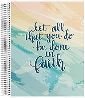 """$20 » Erin Condren 8.5"""" x 11"""" Spiral Coiled Sketchbook (Blank Page) - Faith Quote Designer Interchangeable Cover with 160 Pages,..."""