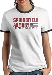 Lovevol Springfield Armory Women's Ringer T-Shirt Black