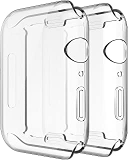 Simpeak [2 Packs] Soft TPU Case Compatible with Apple Watch SE Series 6 Series 5 Series 4 44mm, [All-Around] Full Protecto...
