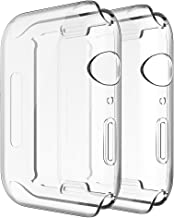 Simpeak 2-Packs Funda Compatible con iWatch 40mm Series 5/4, Funda Compatible con Apple Watch 40mm Slim Suave TPU Protector, Transparente