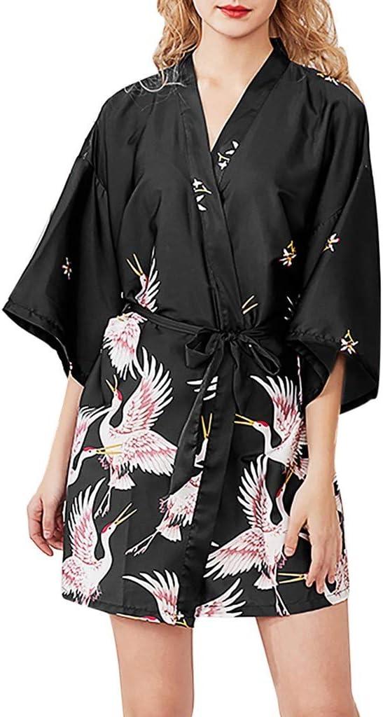 OPAKY Kimono Mujer Batas Cortos Lenceria de Aspecto ...