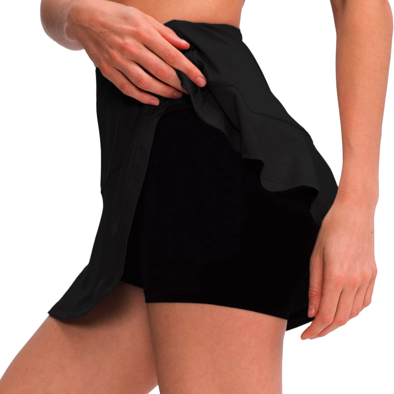 EASYLONGJEE Rare Skorts Skirts for Women Elastic H Max 65% OFF Pocket with Casual