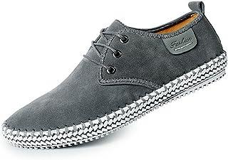21256594 CUSTOME Hombres Ante Cuero Zapatos con Cordones Sneaker Mocasines Ligero  Plano Suave Durable Hecho a Mano