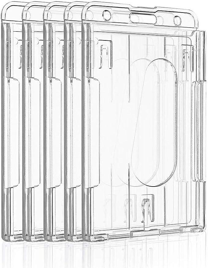 613 opinioni per Uniclife Porta Badge Verticale per 2 Carte Protezione in Plastica Trasparente