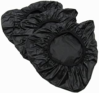 cancanktony 3 Pcs Black Bicycle Saddle Rain Cover Waterproof Bike Seat Rain Cover (Rain and Dust Resistant)