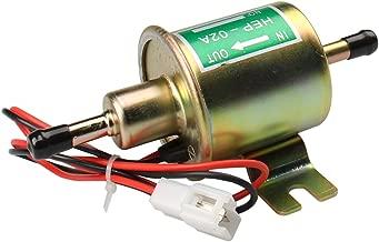 CarBole Universal Gas Diesel Inline Electric Fuel Pump Universal electric fuel pump for ford chevy yanma 12V 1-2A 4-7 P.S.I. Shut-off Pressure HEP-02A