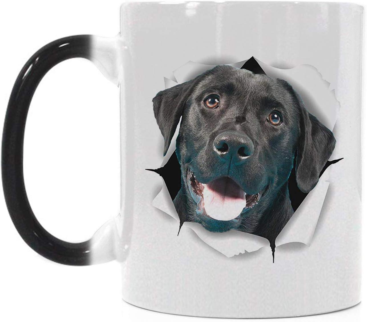 Magico Heat Sensitive Color Changing Popular Lab Black Department store Coffee Mug Funny