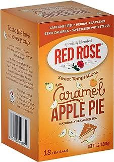 Red Rose Teas Sweet Temptations Tea, 6 Boxes of 18 (108 Tea Bags), Caramel Apple Pie