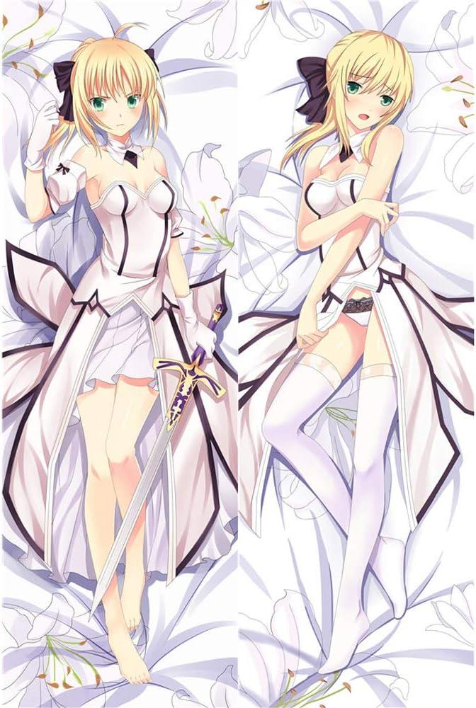 LXHQ Fate Fresno Mall Saber Anime Body Hugs Pillowcase Cover Max 68% OFF 150x50c Pillow