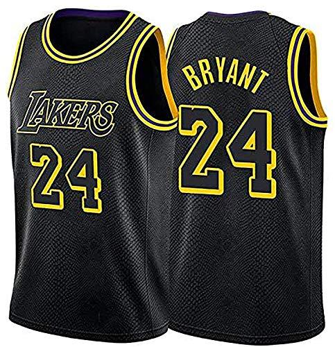 llp Jersey de Baloncesto para Hombre, Lakers # 24 Bryant Baloncesto Jersey Sportswear, Camiseta sin Mangas Unisex Camiseta de Baloncesto (Color : Black, Size : Small)