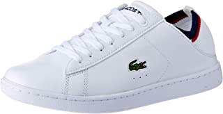 Lacoste Women's Carnaby EVO Duo 119 1 Fashion Shoes, WHT/NVY/RED