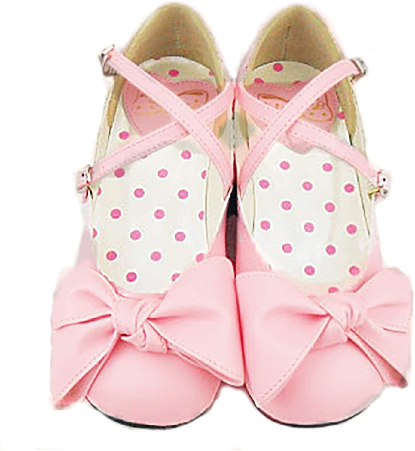 Japanese Sweet Lolita Block Low Heel Round Toe PU Leahter Mary Jane shoes