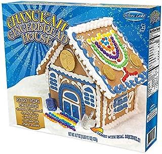 Hanukkah Gingerbread House with Dreidel and Chocolate Gelt Kosher