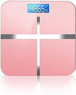 UMBRANDED Báscula corporal recargable por USB, báscula digital con temperatura, lectura precisa instantánea con función Step-On duradera