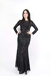 Opera Straight Satin Dress For Women - Black