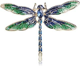 Pretty Enamel Red Blue Dragonfly Brooch Pin Charm Women Men Pin Jewelry